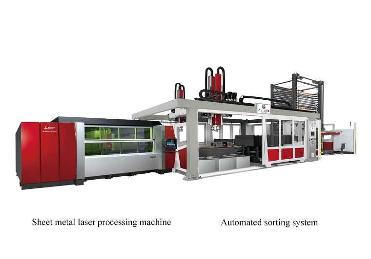 Sheet metal laser processing machine, Automated sorting system